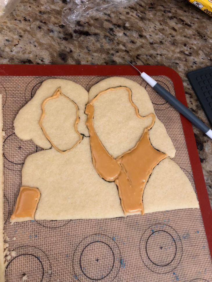 Cookie cutouts with royal icing