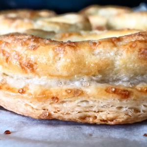 layered puff pastry base